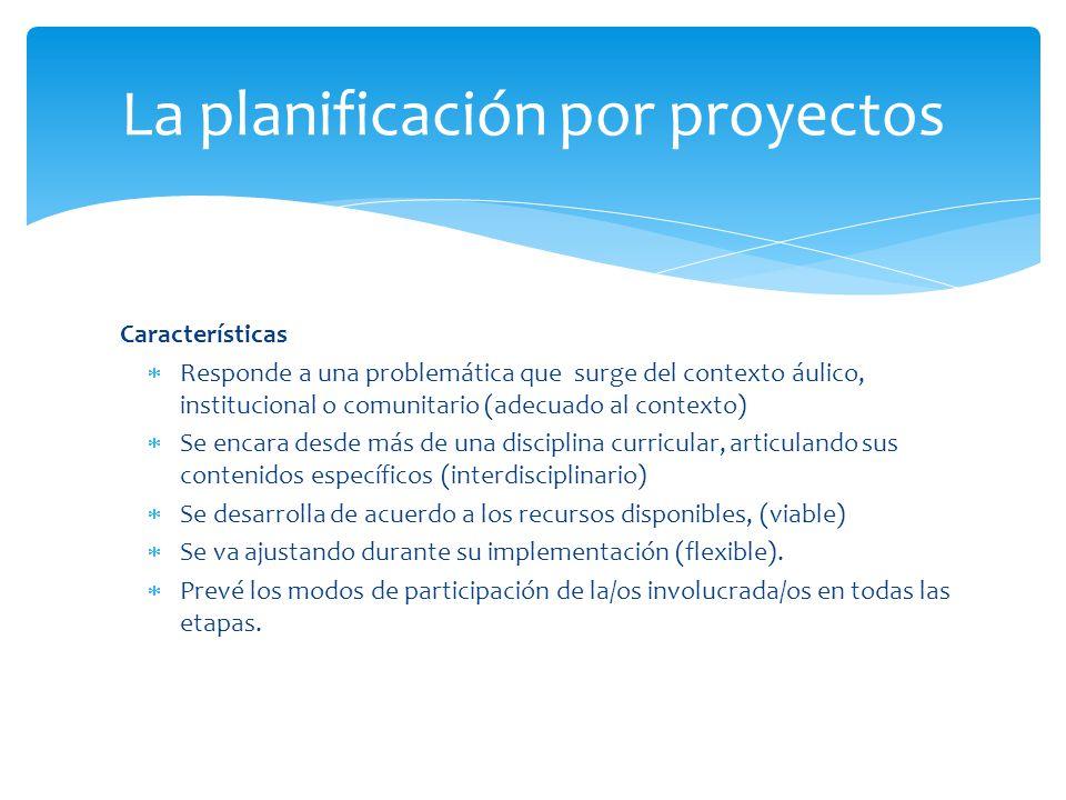 La planificación por proyectos