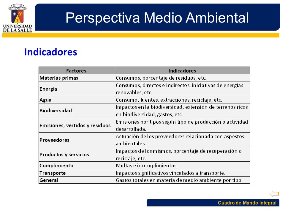 Perspectiva Medio Ambiental