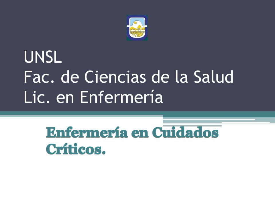 UNSL Fac. de Ciencias de la Salud Lic. en Enfermería