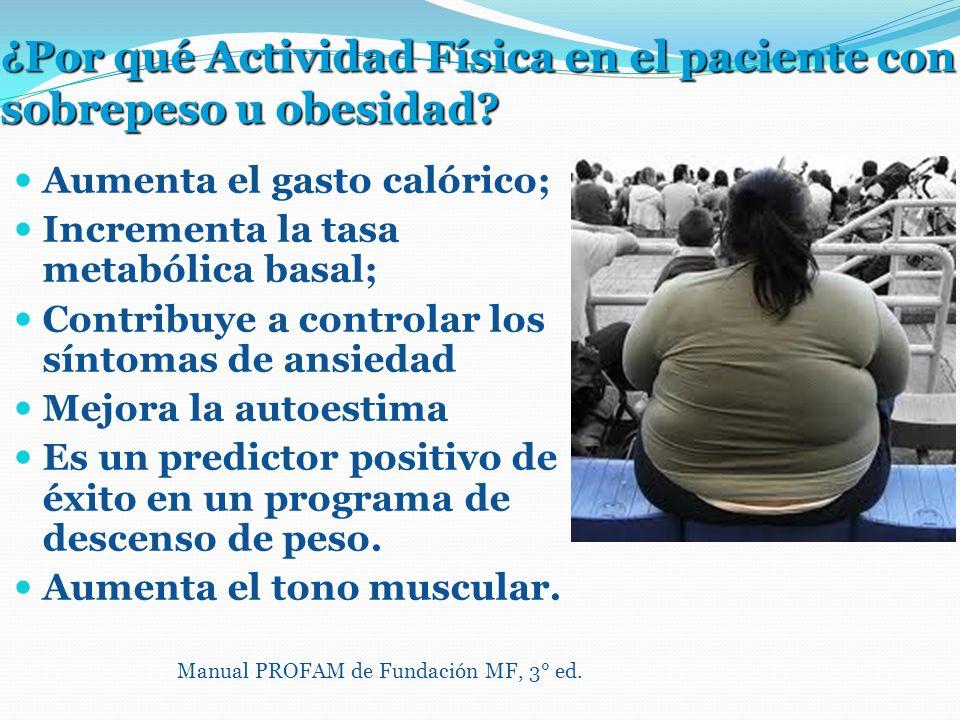 ¿Por qué Actividad Física en el paciente con sobrepeso u obesidad