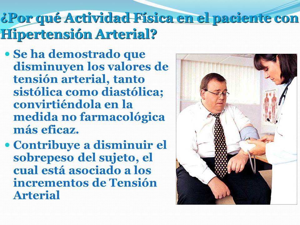 ¿Por qué Actividad Física en el paciente con Hipertensión Arterial