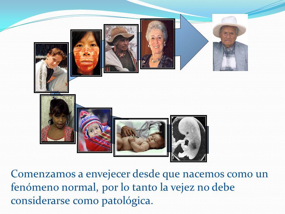 Comenzamos a envejecer desde que nacemos como un fenómeno normal, por lo tanto la vejez no debe considerarse como patológica.
