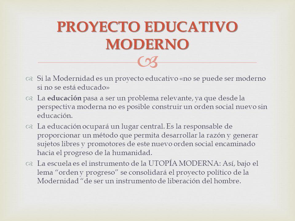 PROYECTO EDUCATIVO MODERNO