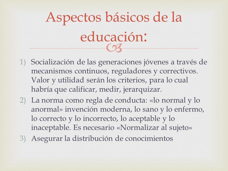 Aspectos básicos de la educación: