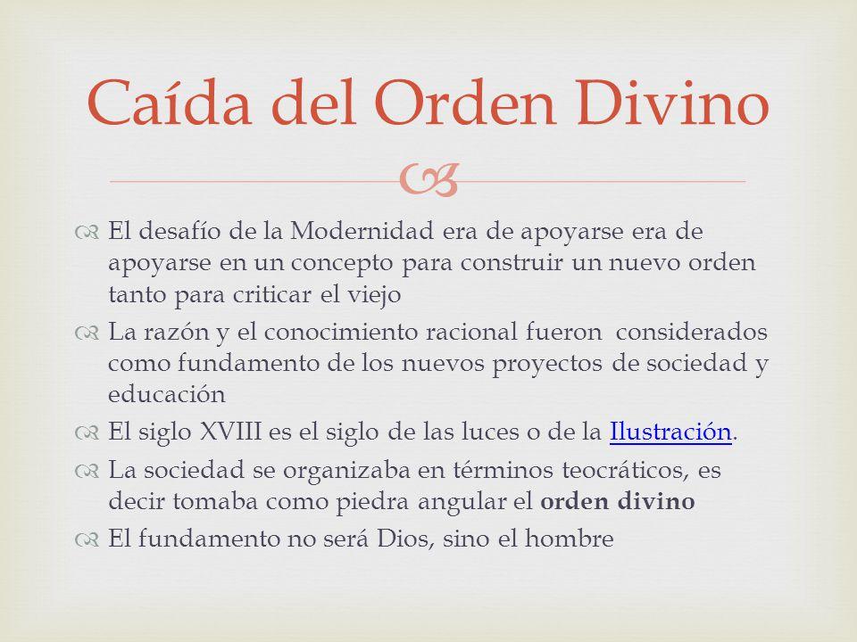 Caída del Orden Divino