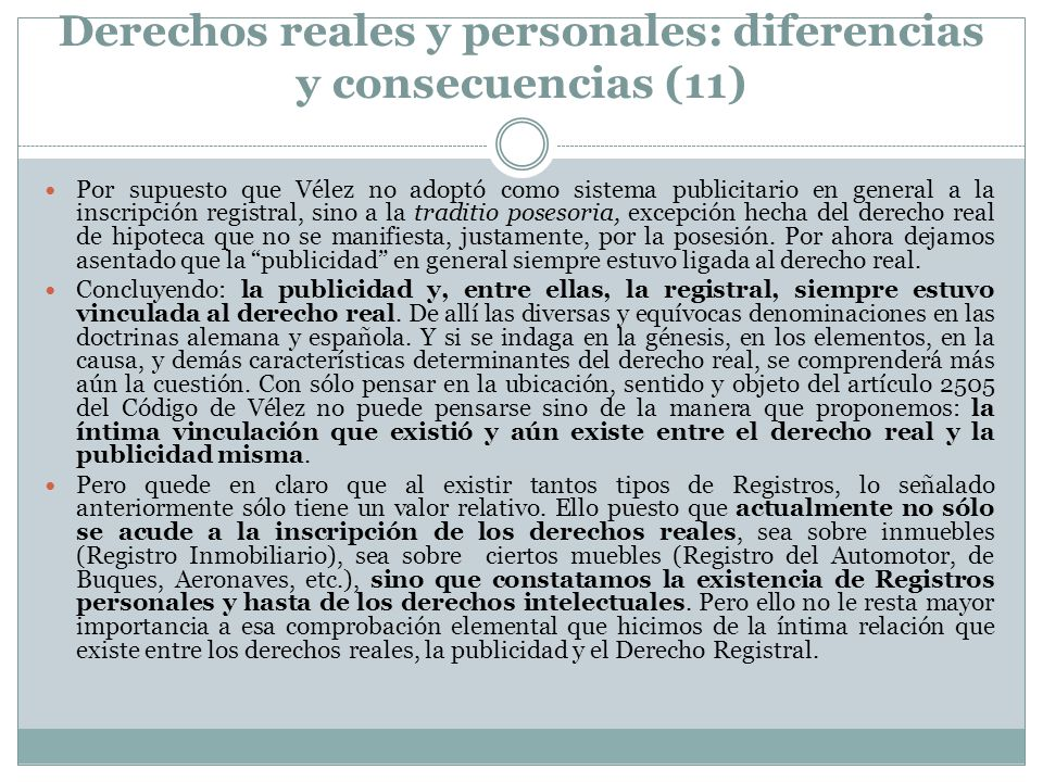 Derechos reales y personales: diferencias y consecuencias (11)