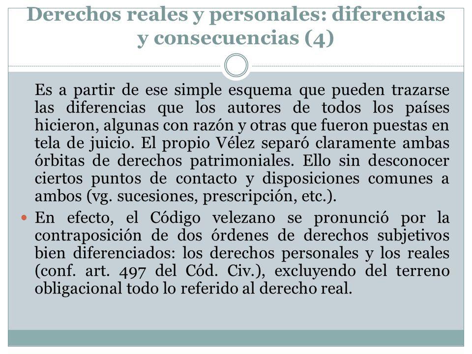 Derechos reales y personales: diferencias y consecuencias (4)