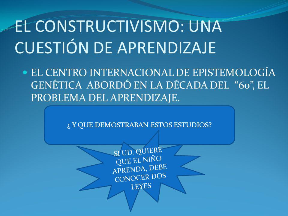 EL CONSTRUCTIVISMO: UNA CUESTIÓN DE APRENDIZAJE