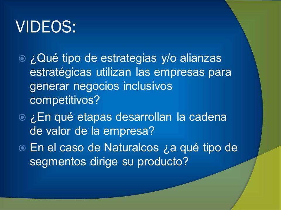 VIDEOS: ¿Qué tipo de estrategias y/o alianzas estratégicas utilizan las empresas para generar negocios inclusivos competitivos