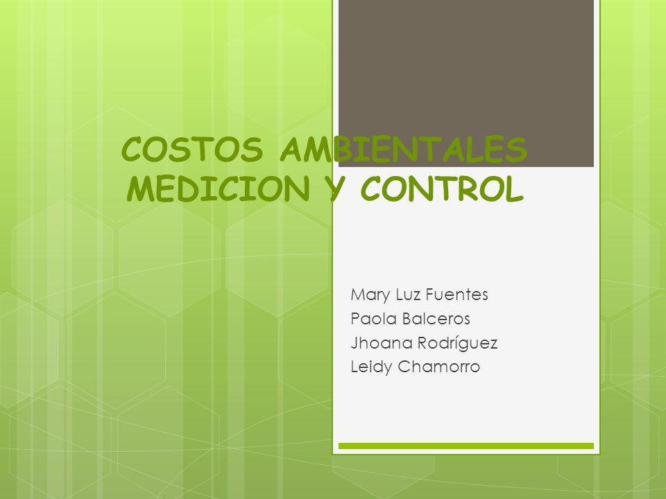 COSTOS AMBIENTALES MEDICION Y CONTROL