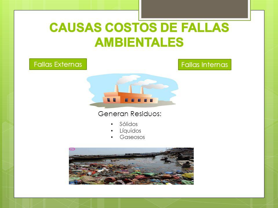 CAUSAS COSTOS DE FALLAS AMBIENTALES