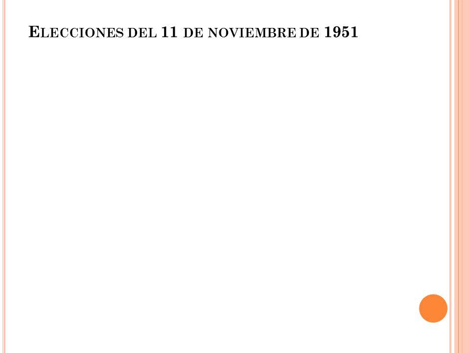 Elecciones del 11 de noviembre de 1951