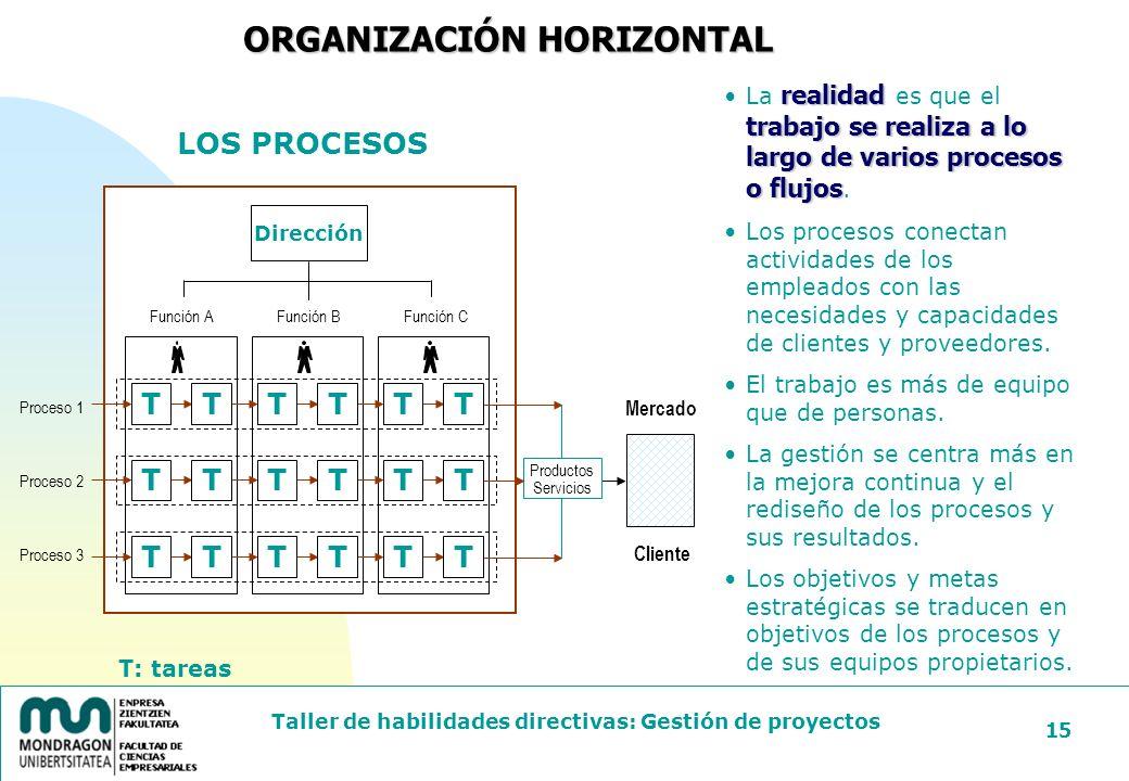 ORGANIZACIÓN HORIZONTAL