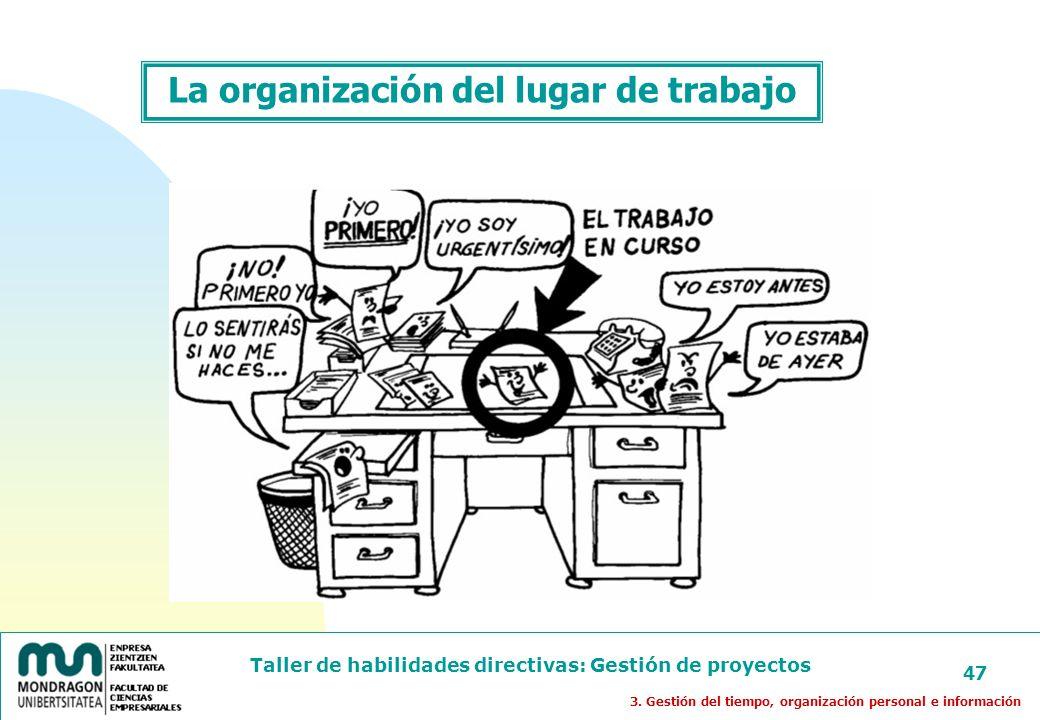 La organización del lugar de trabajo