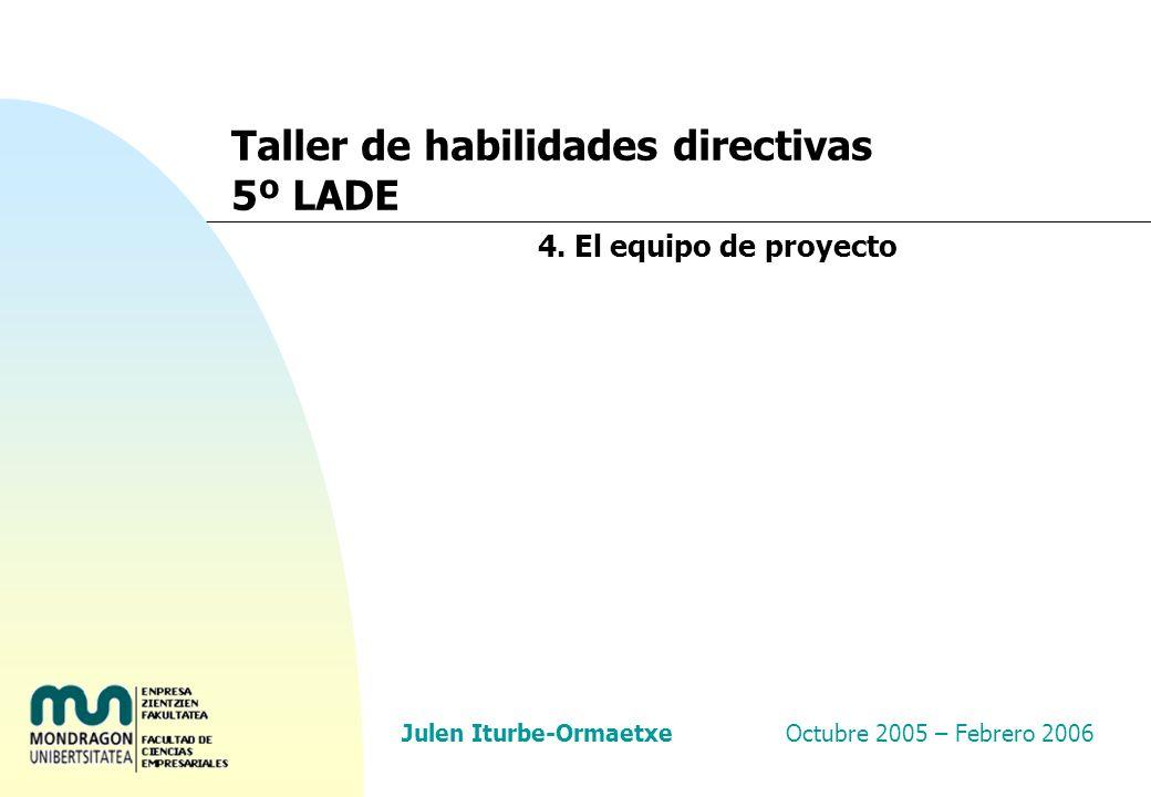 Taller de habilidades directivas 5º LADE