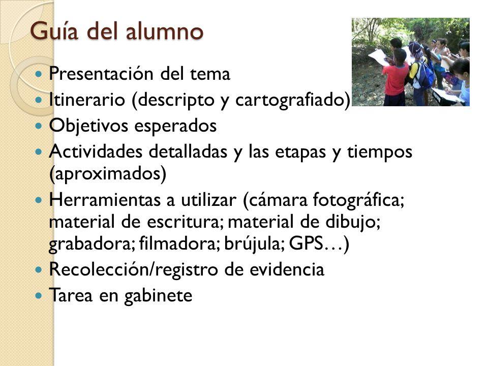 Guía del alumno Presentación del tema