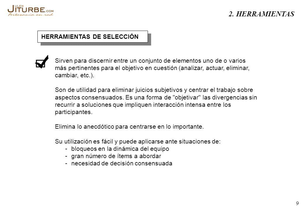 2. HERRAMIENTAS HERRAMIENTAS DE SELECCIÓN