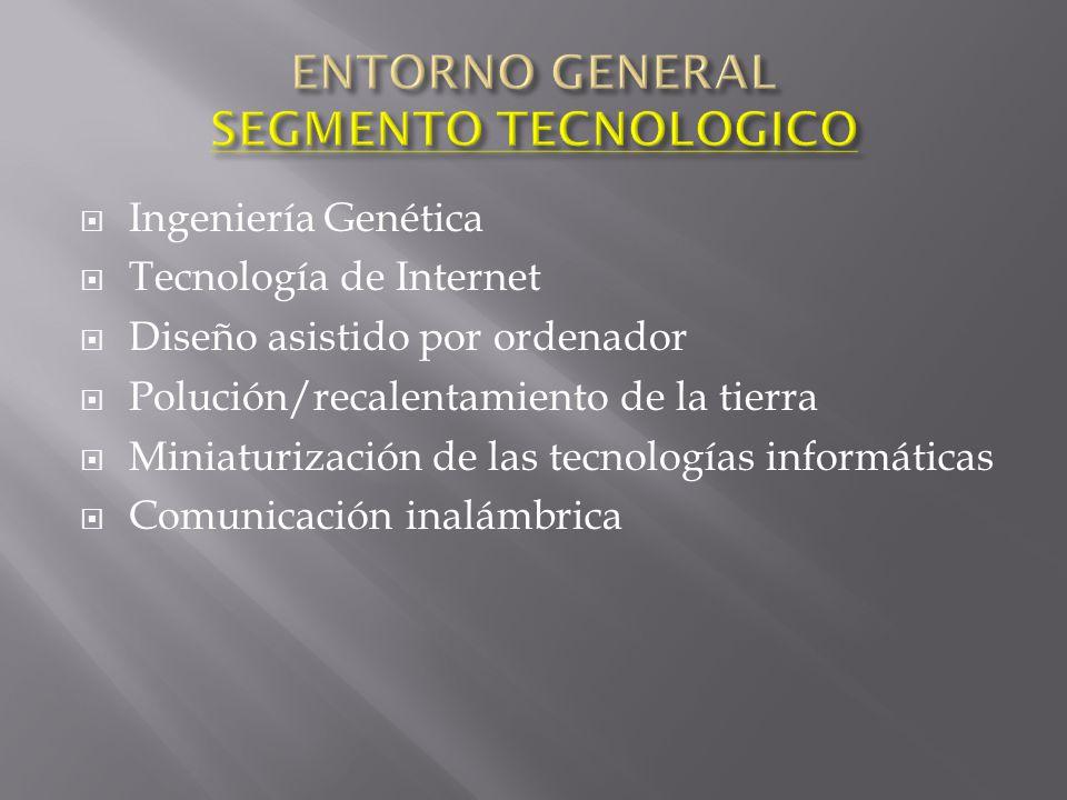 ENTORNO GENERAL SEGMENTO TECNOLOGICO