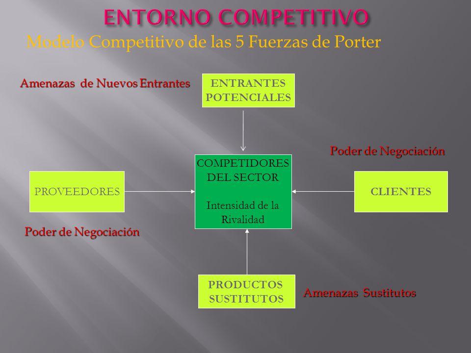 ENTORNO COMPETITIVO Modelo Competitivo de las 5 Fuerzas de Porter