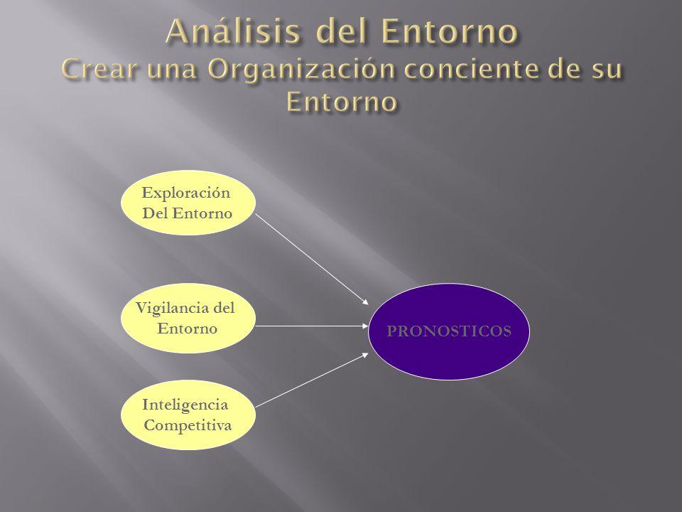 Análisis del Entorno Crear una Organización conciente de su Entorno