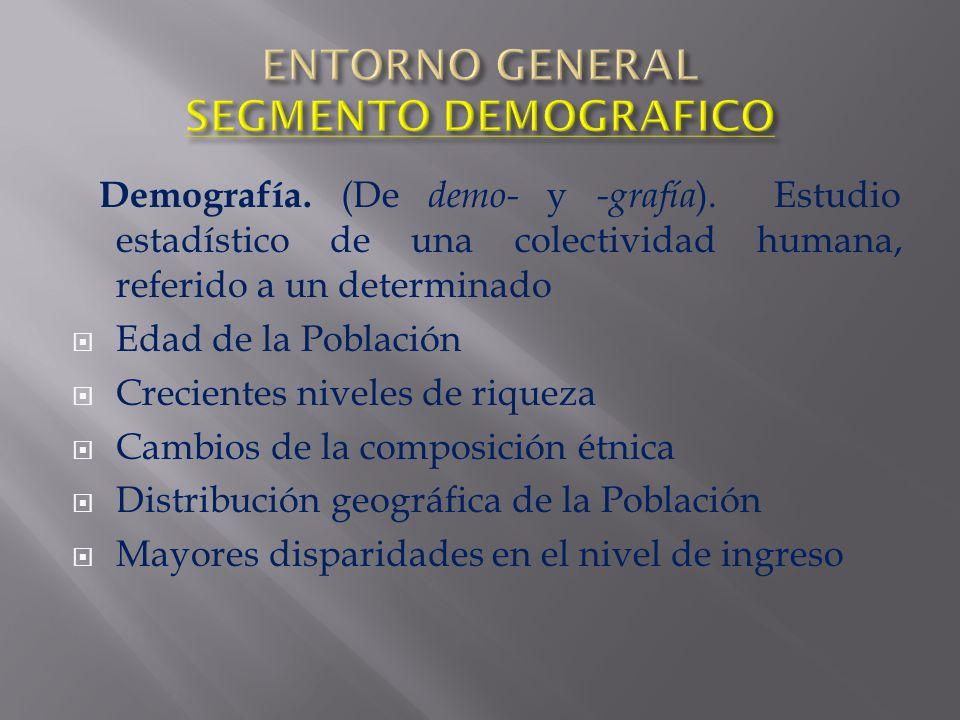 ENTORNO GENERAL SEGMENTO DEMOGRAFICO