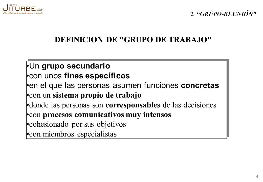 DEFINICION DE GRUPO DE TRABAJO