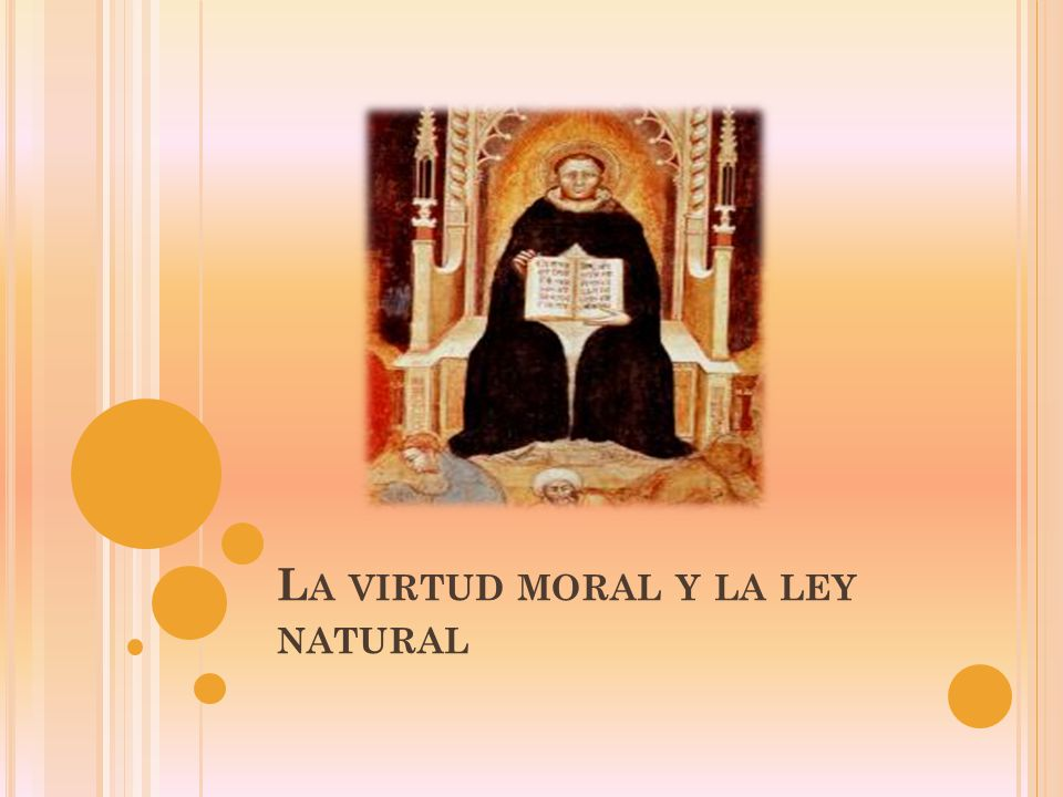 La virtud moral y la ley natural