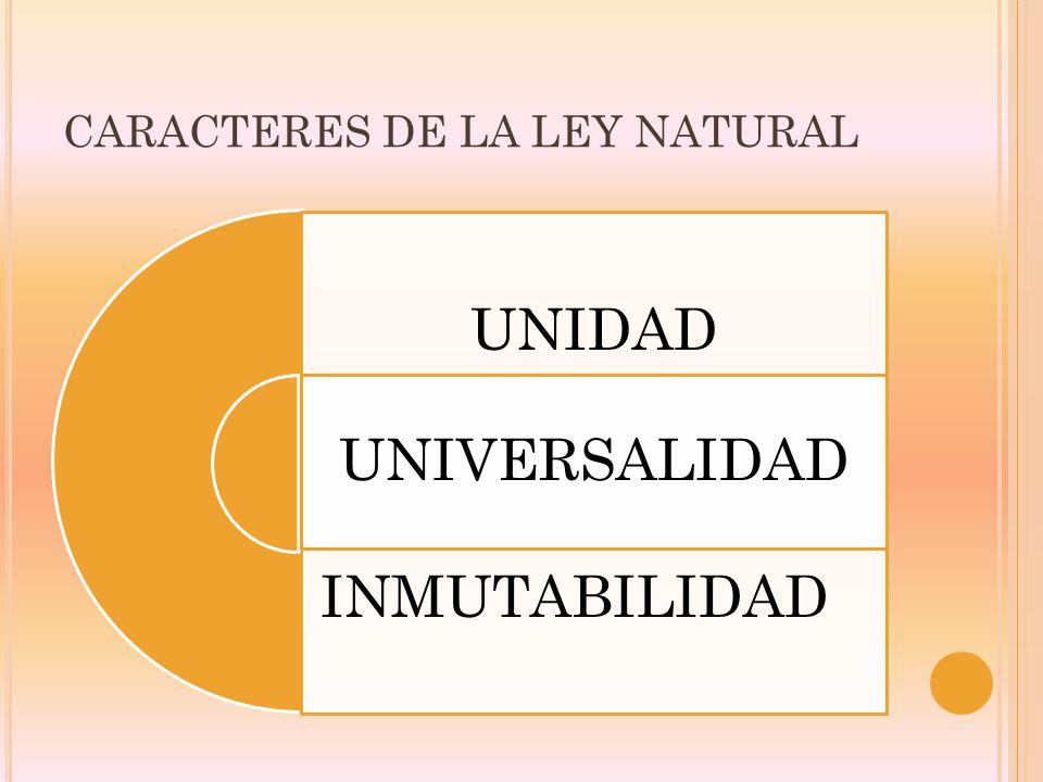 CARACTERES DE LA LEY NATURAL