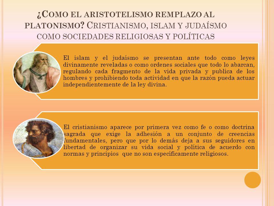 ¿Como el aristotelismo remplazo al platonismo