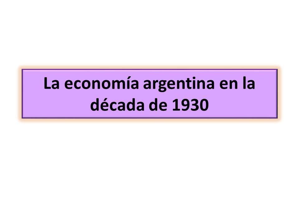 La economía argentina en la década de 1930