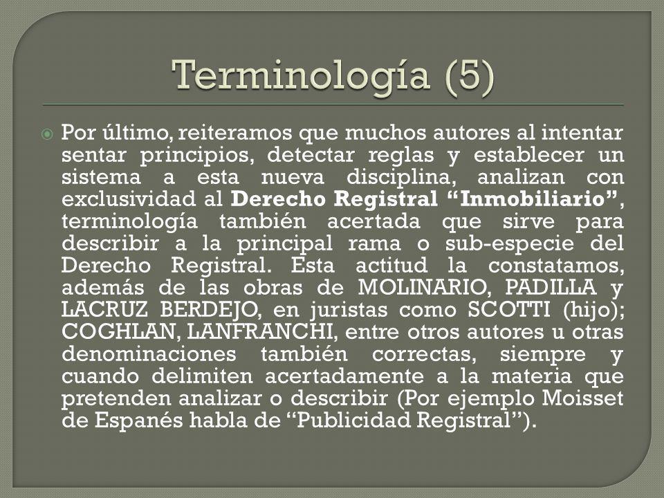 Terminología (5)