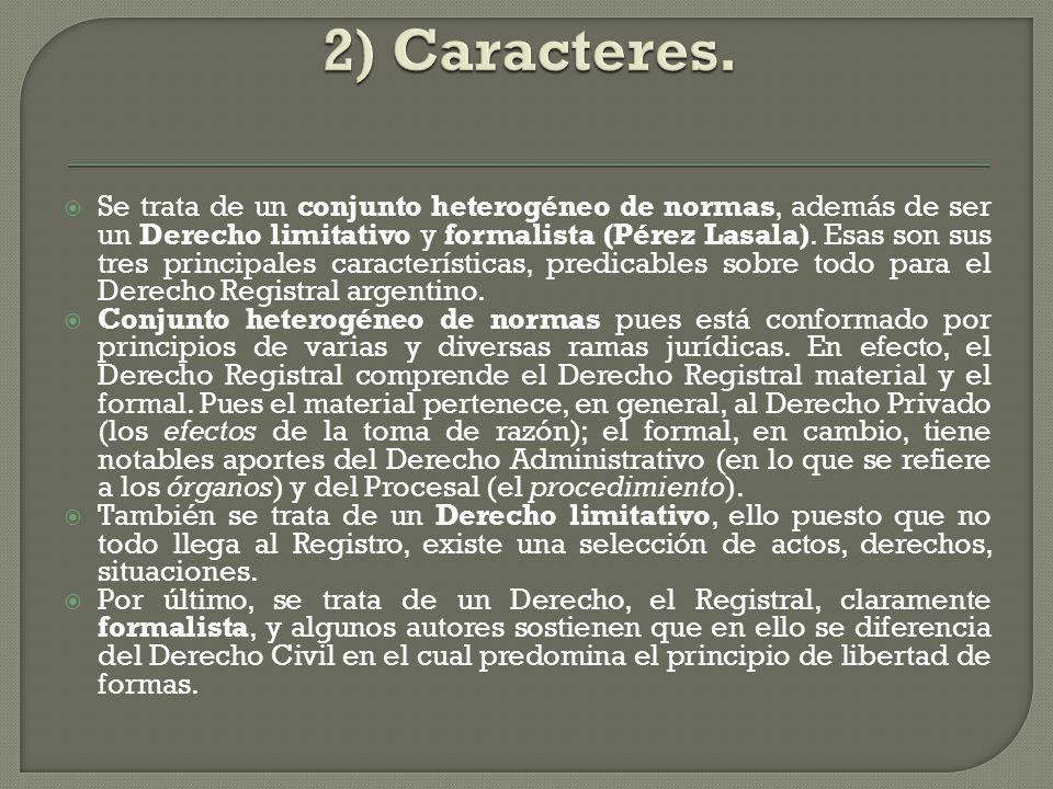 2) Caracteres.