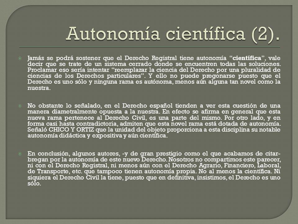 Autonomía científica (2).