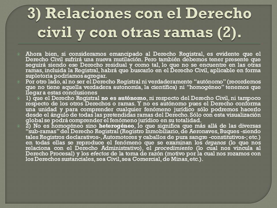3) Relaciones con el Derecho civil y con otras ramas (2).