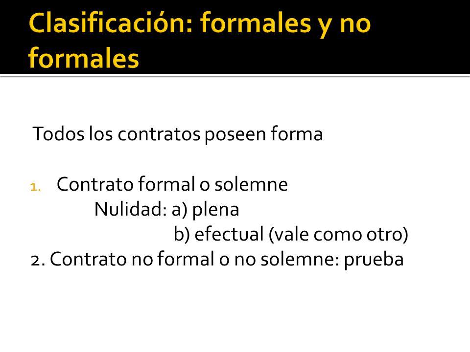 Clasificación: formales y no formales