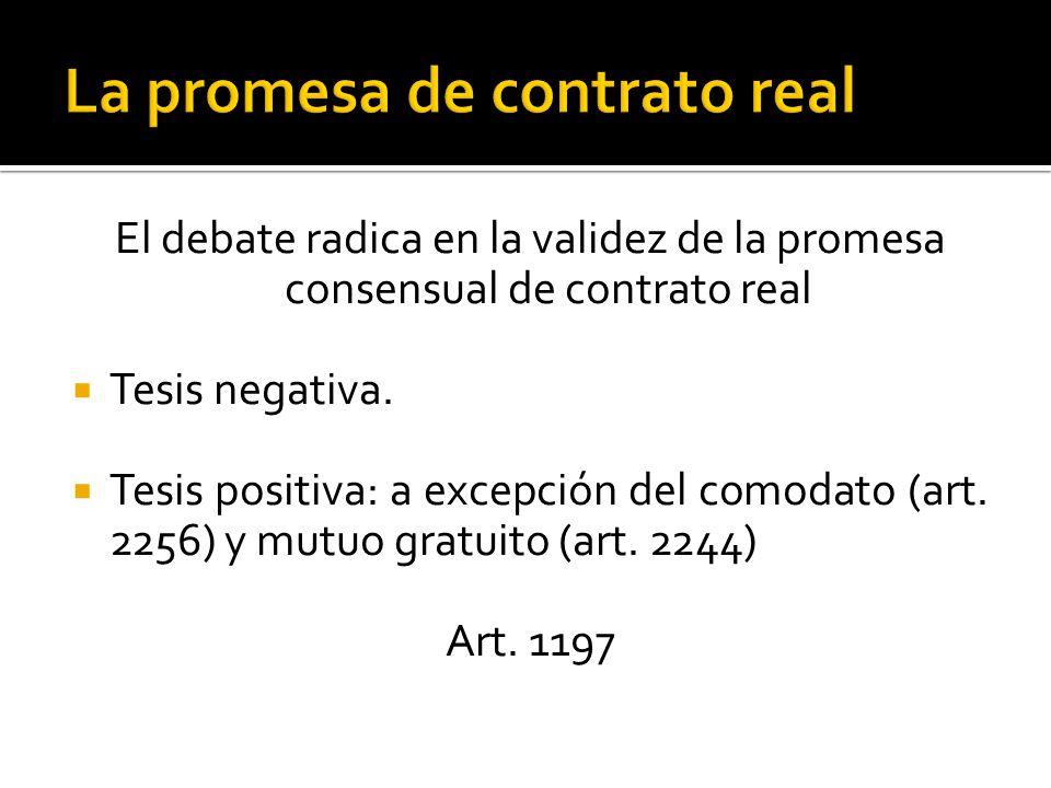 La promesa de contrato real