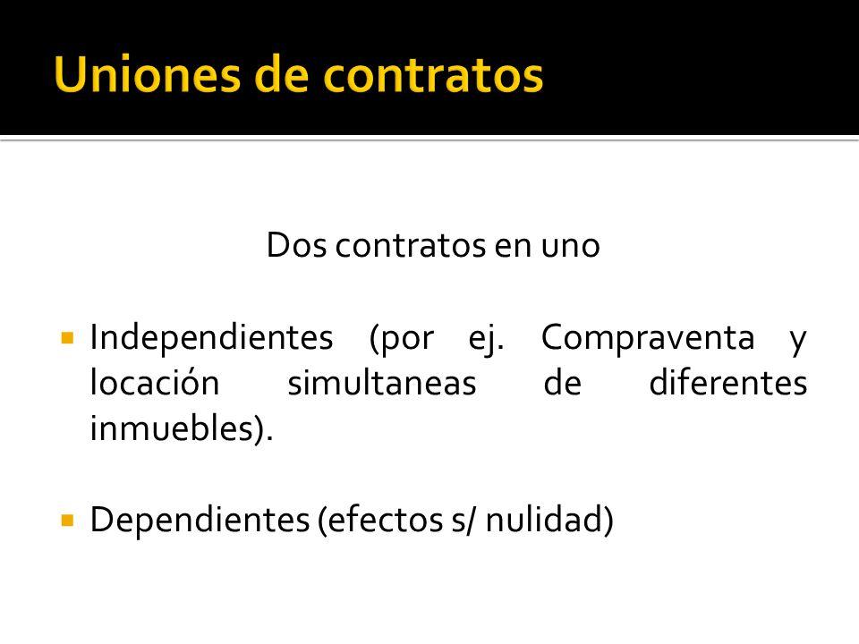 Uniones de contratos Dos contratos en uno