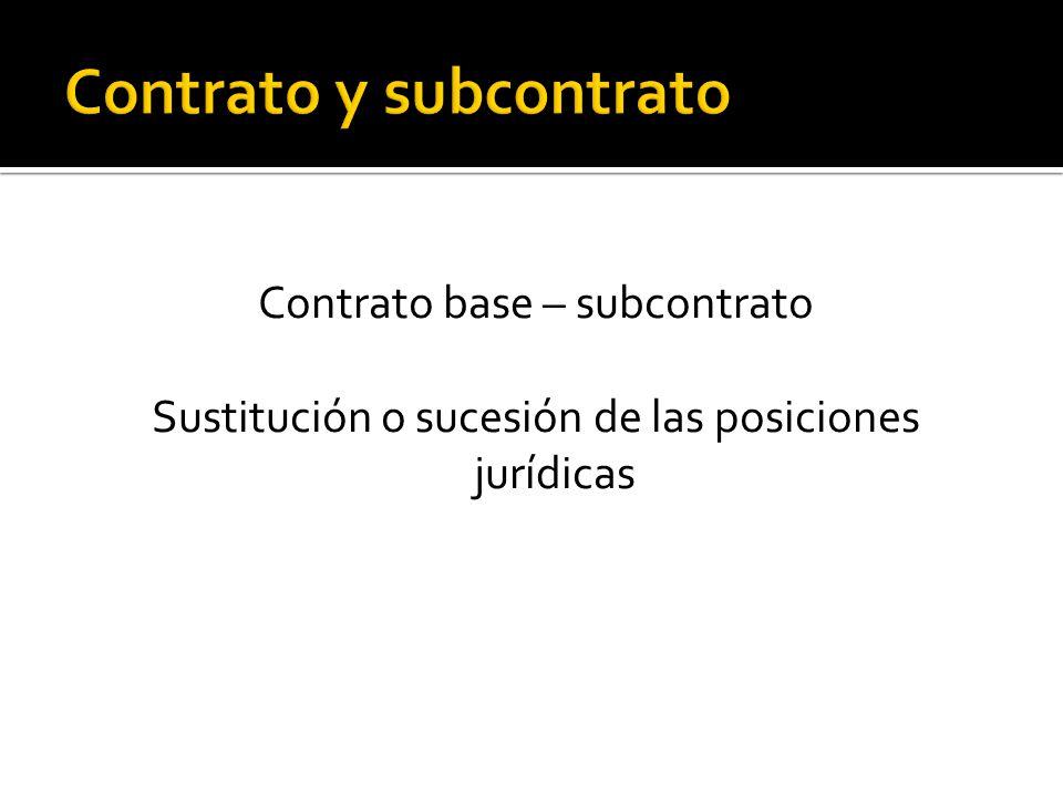 Contrato y subcontrato