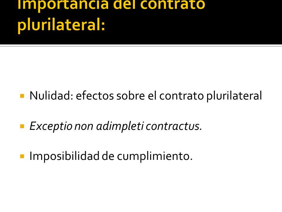 Importancia del contrato plurilateral: