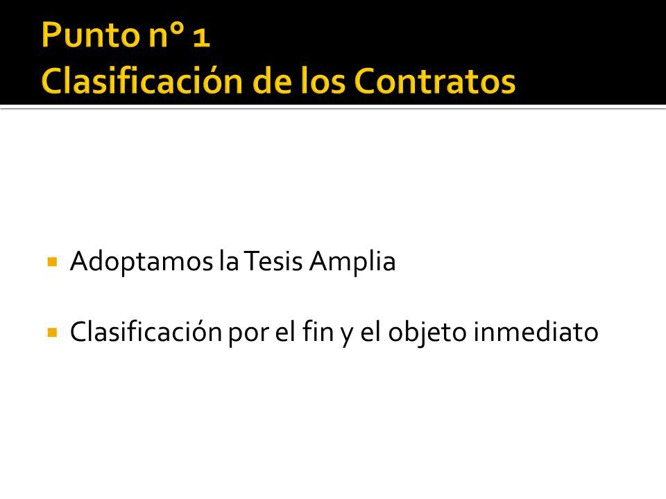 Punto n° 1 Clasificación de los Contratos