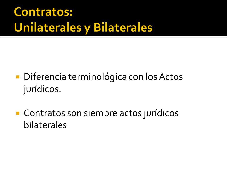Contratos: Unilaterales y Bilaterales
