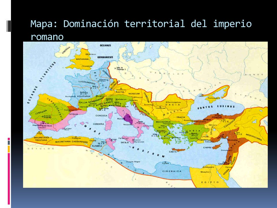 Mapa: Dominación territorial del imperio romano