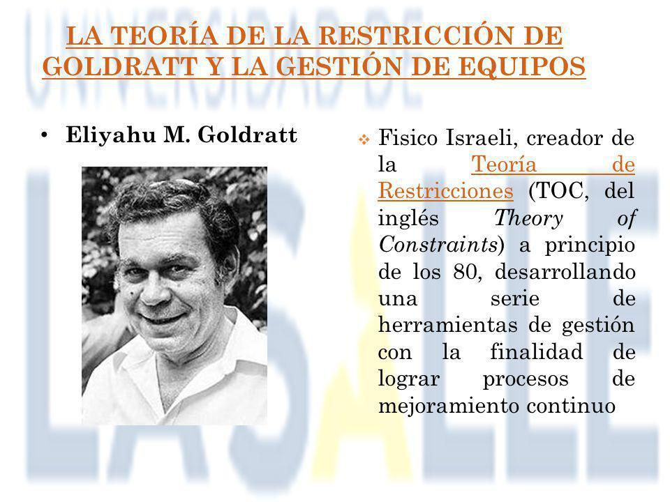 LA TEORÍA DE LA RESTRICCIÓN DE GOLDRATT Y LA GESTIÓN DE EQUIPOS