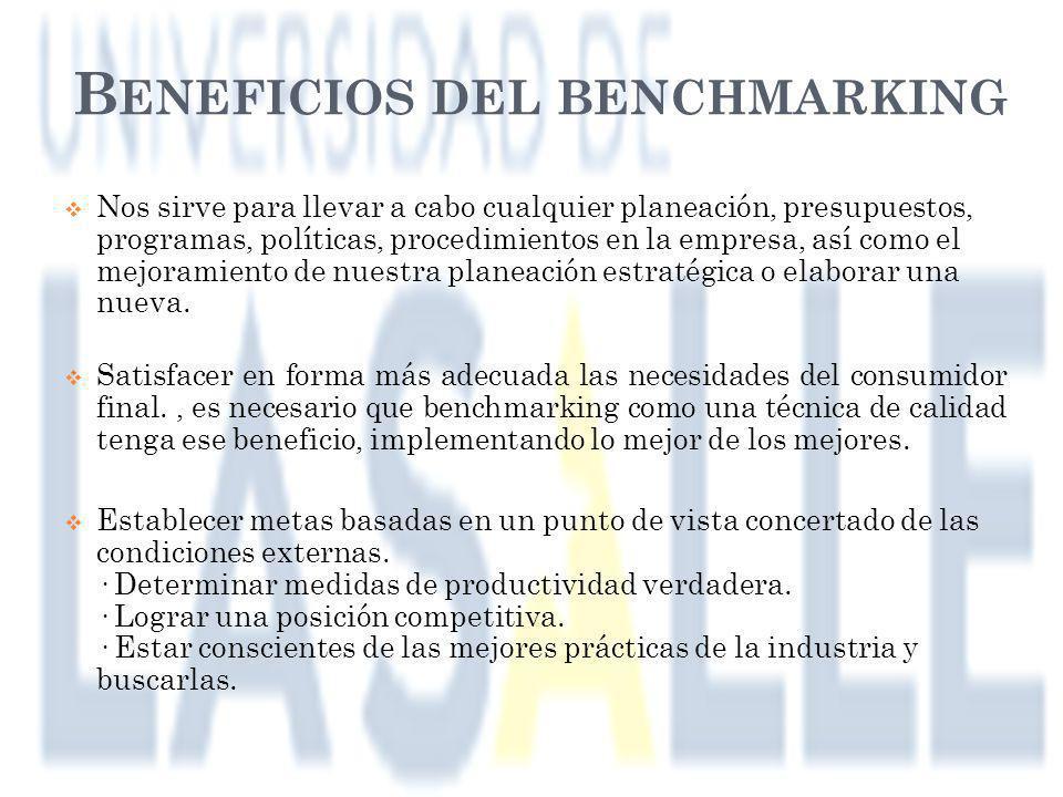 Beneficios del benchmarking