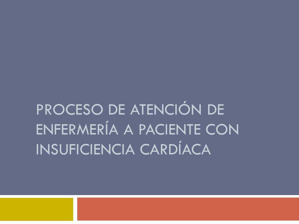 Proceso de atención de enfermería a paciente con insuficiencia cardíaca
