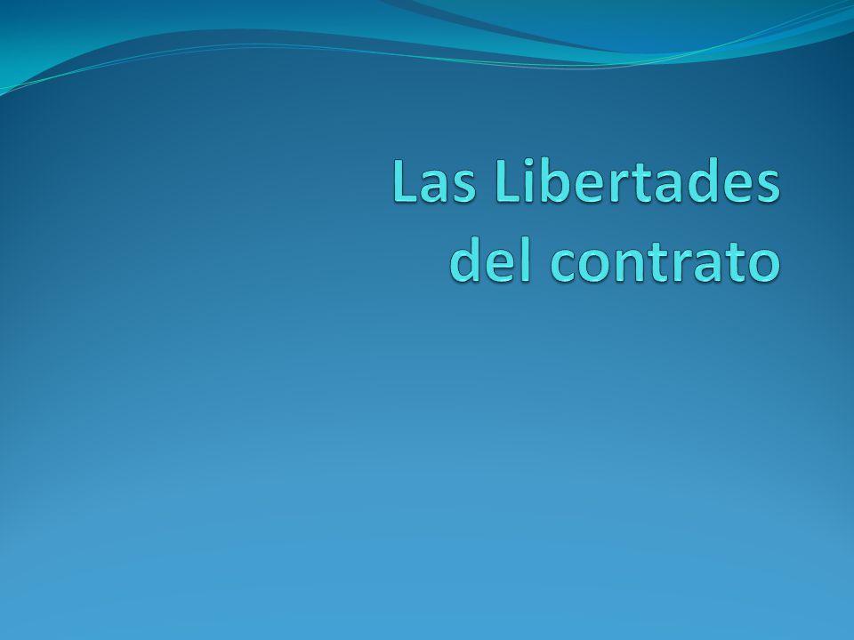Las Libertades del contrato