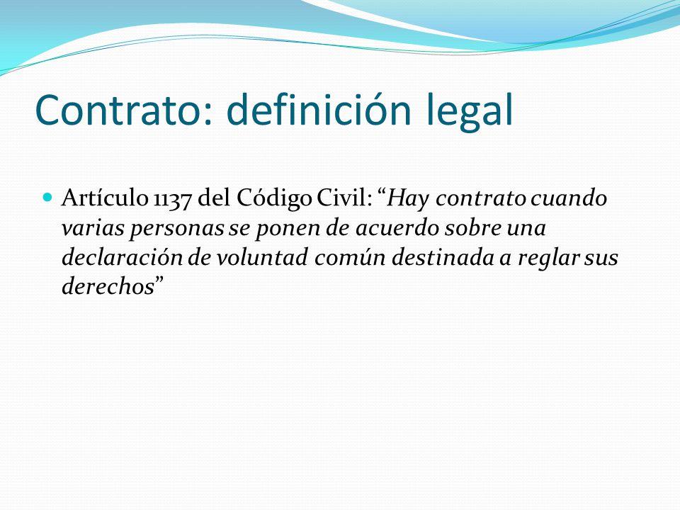 Contrato: definición legal