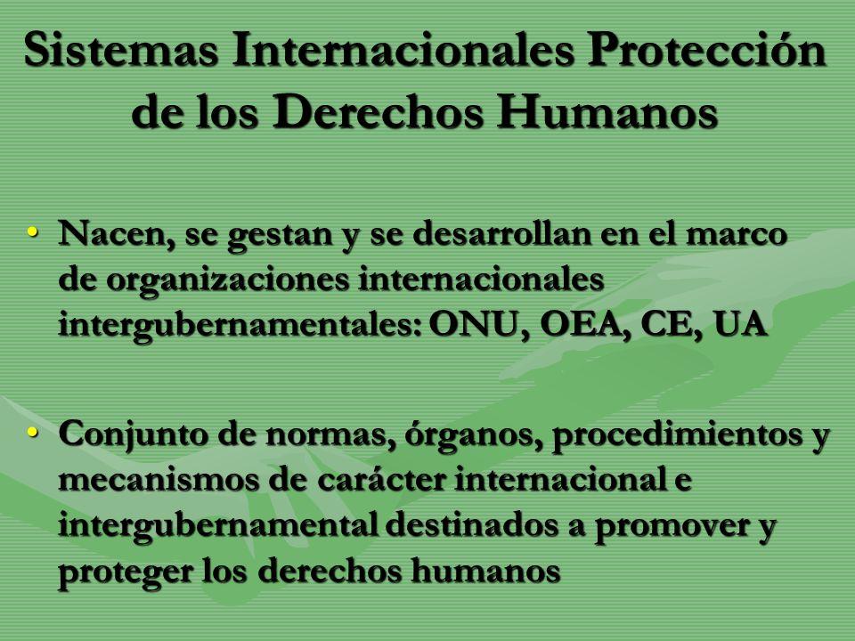 Sistemas Internacionales Protección de los Derechos Humanos