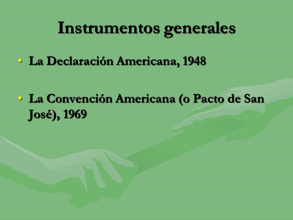 Instrumentos generales