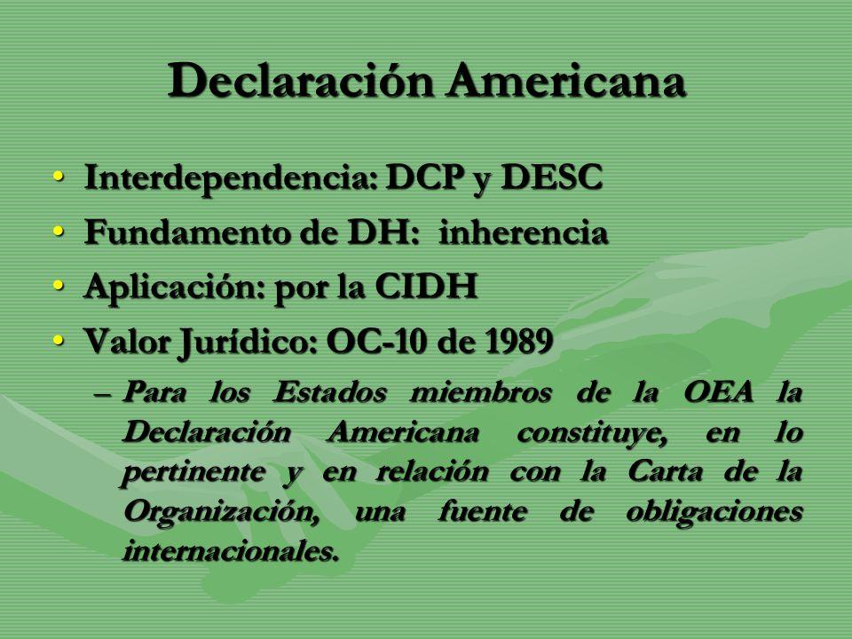 Declaración Americana